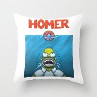 HOMER Throw Pillow