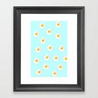 Daisy Blue Framed Art Print