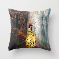 Belle In The Enchanted F… Throw Pillow