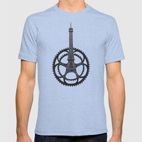 Le Tour De France Mens Fitted Tee Tri-Blue SMALL
