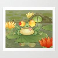 Swamp Snack Art Print