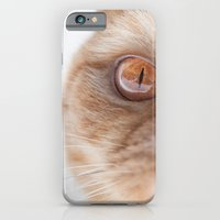 orange eyes iPhone 6 Slim Case