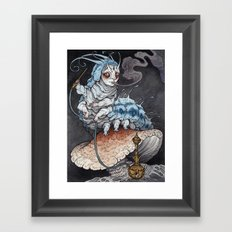 Absolem the Blue Caterpillar art print Framed Art Print
