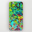 A LITTLE OF THIS - Bright Colorful Abstract Ocean Painting Circle Pattern Magenta Lime Fun Gift iPhone & iPod Skin