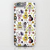 iPhone Cases featuring Sailor Senshi Doodle by KiraKiraDoodles