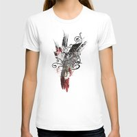 Flying Song Womens Fitted Tee White SMALL