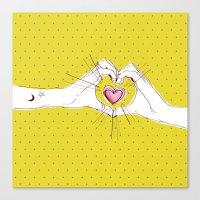 Heart Hands Canvas Print