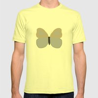 BUTTERFLY Mens Fitted Tee Lemon SMALL