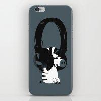 Le zèbre mélomane iPhone & iPod Skin