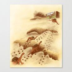Dinosaur Migration Canvas Print