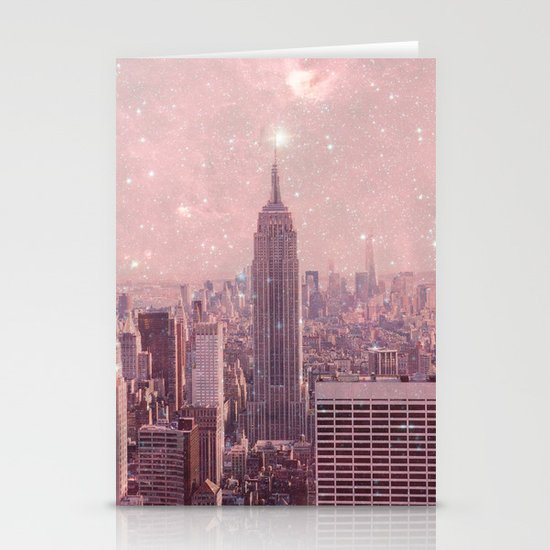 Stardust Covering New York Stationery Card