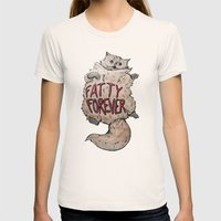 Fatty Forever Womens Fitted Tee Natural SMALL