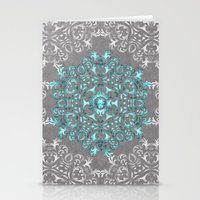Mandala Pattern with Glitters Stationery Cards