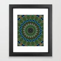 Peacock Abstract Framed Art Print