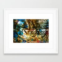 Retrollage 7.. Framed Art Print