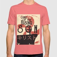 Land of the Rising Son Mens Fitted Tee Pomegranate SMALL