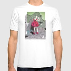 Alexander McQueen Doodle Bomb by Downtown Doodler Mens Fitted Tee White SMALL