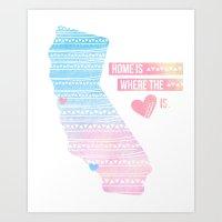 California Home Art Print