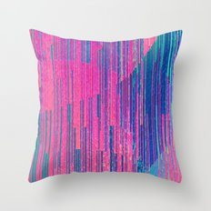 reign of glitch Throw Pillow