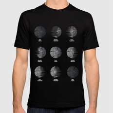 The Death Star Moon phase. Mens Fitted Tee Black SMALL