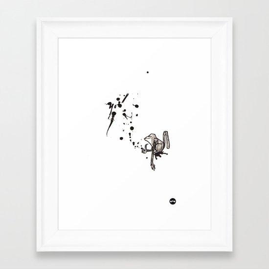 Pensive Primate. Framed Art Print