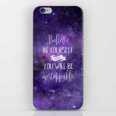 Believe In Yourself Quote iPhone & iPod Skin