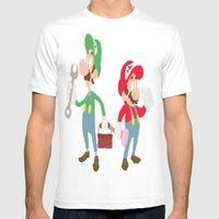 Brothers Mens Fitted Tee White SMALL