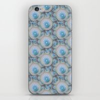 teal grey blossoms iPhone & iPod Skin