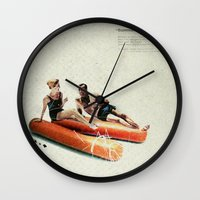 Summer in the City | Collage Wall Clock