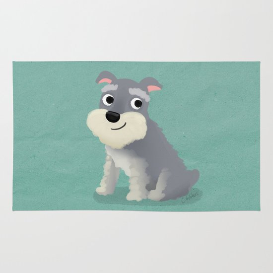 Schnauzer - Cute Dog Series Area & Throw Rug