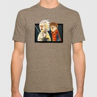 Back To The Future Mens Fitted Tee Tri-Coffee SMALL