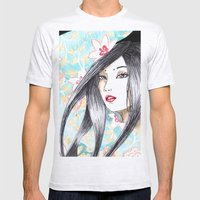 Geisha Glance Mens Fitted Tee Ash Grey SMALL
