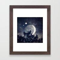 A Night With Venus and Jupiter Framed Art Print
