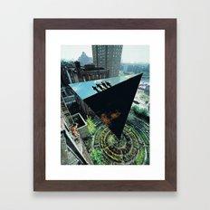 Density and  Expansion. Framed Art Print