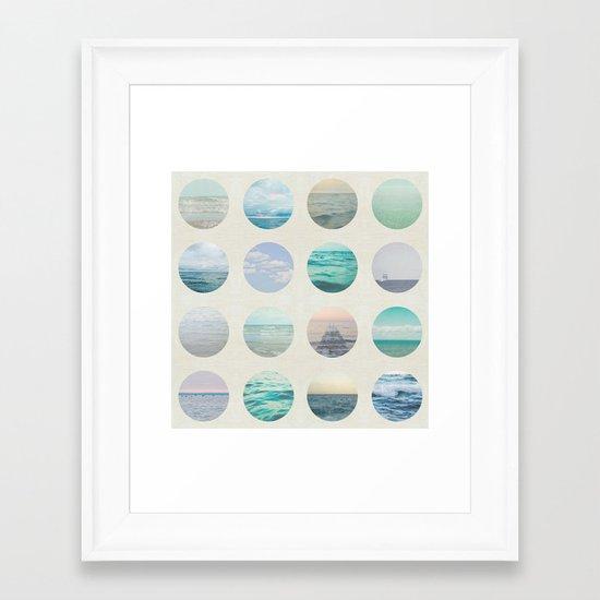 Ocean Polka dot  Framed Art Print