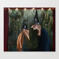 Trouble At The Magic Sho… Canvas Print