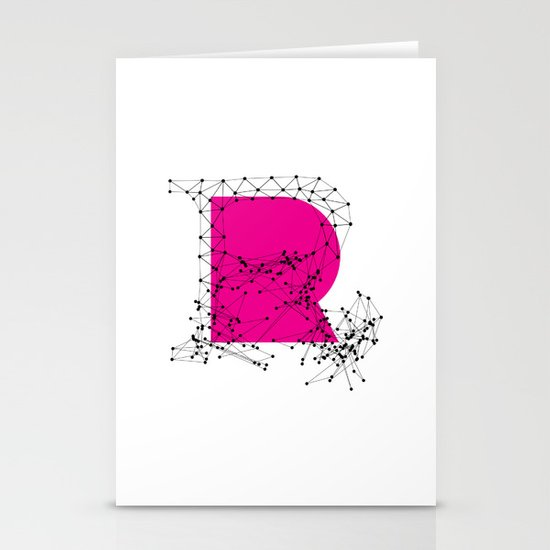 R (abstract geometrical type) Stationery Card