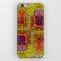 Burgundy and Olive Abstract iPhone & iPod Skin