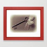 Vintage key Framed Art Print