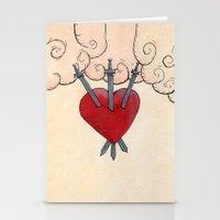 Tarot - 3 of Swords Stationery Cards