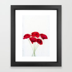 a Bunch Of Red Poppies Framed Art Print