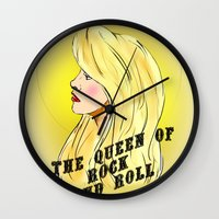 The Queen Of Rock And Ro… Wall Clock