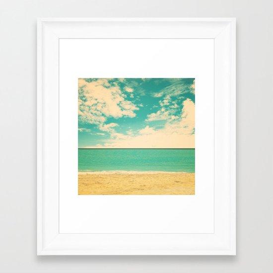 Retro Beach Framed Art Print