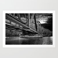 Night Bridge Art Print
