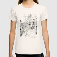 Kyoto - the old city Womens Fitted Tee Natural SMALL