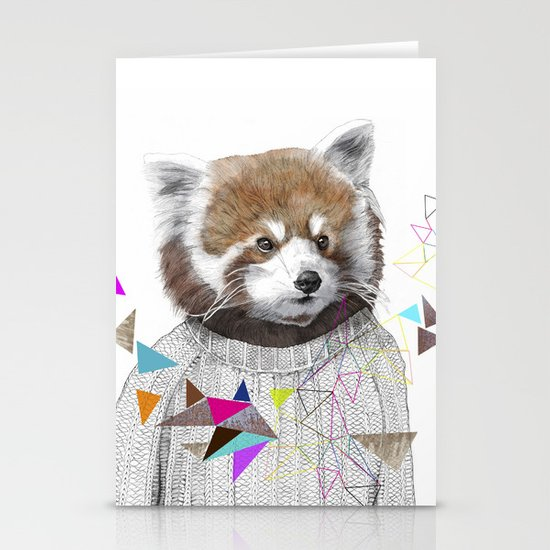 RED PANDA by Jamie Mitchell and Kris Tate Stationery Card