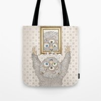 Tote Bag featuring My best friend Monster by Ruta13