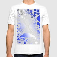 Digitize (White Background) Mens Fitted Tee SMALL White