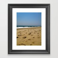 A Jersey Shore Framed Art Print