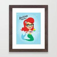 Hipster Ariel Framed Art Print